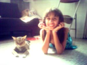 Tasha & Meow Cat (Thumper's buddy in Heaven)